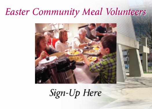 Easter Community Meal - Volunteers