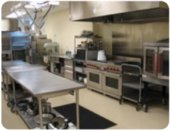 Our commercial kitchen – just off Fellowship Hall – is the source of many wonderful meals.